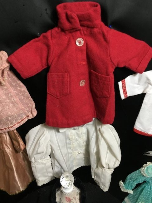 Lot of 16 Pcs Antique/Vintage Doll Clothing - 3