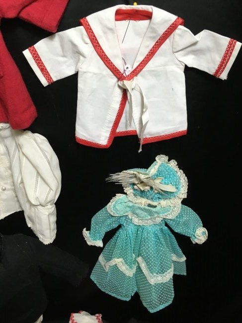 Lot of 16 Pcs Antique/Vintage Doll Clothing - 4