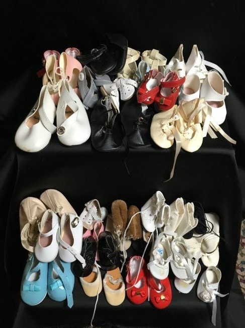 Lot of 30 Pairs of Vintage Doll Shoes.