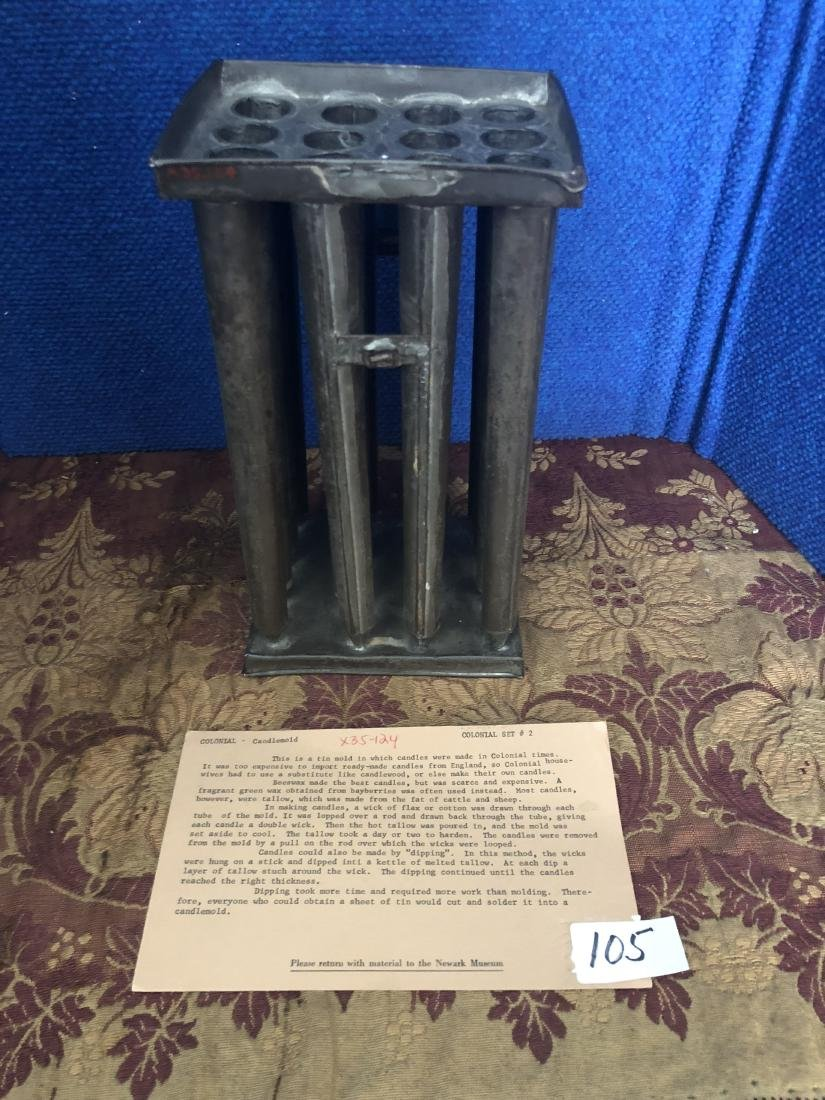 Tin Candle Mold for 16 Candles