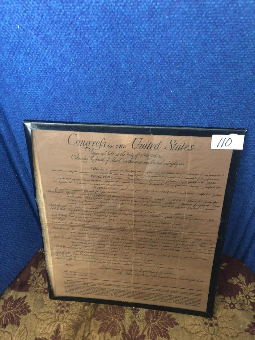 Replica of The Bill of Rights