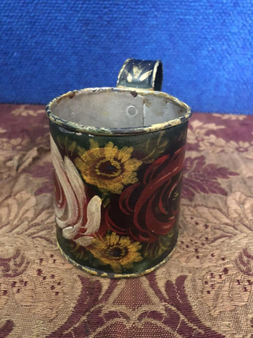 Hand Painted Pennsylvania Dutch Measuring Cup