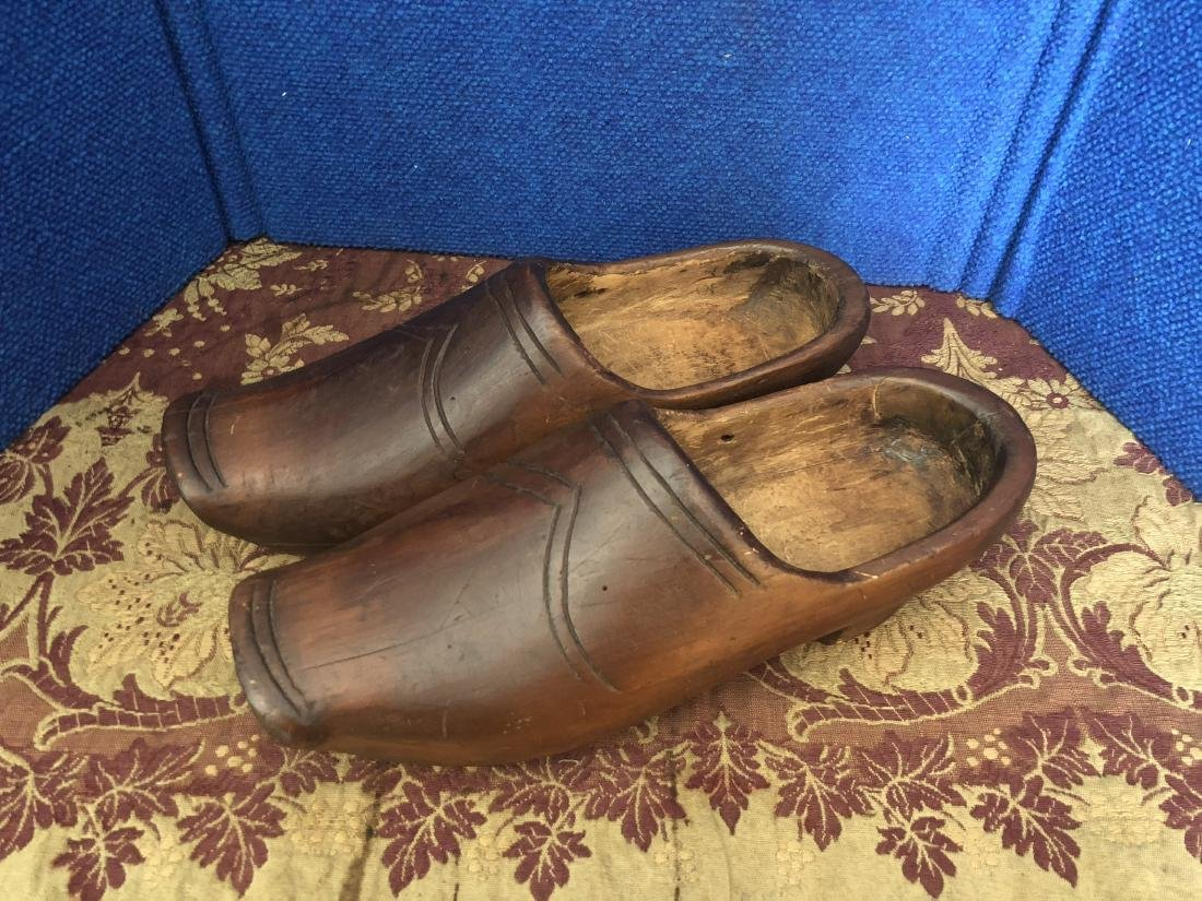 Pair of Large Dutch Wooden Shoes