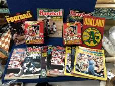 Sports Sticker Books and Empty Wax Boxes