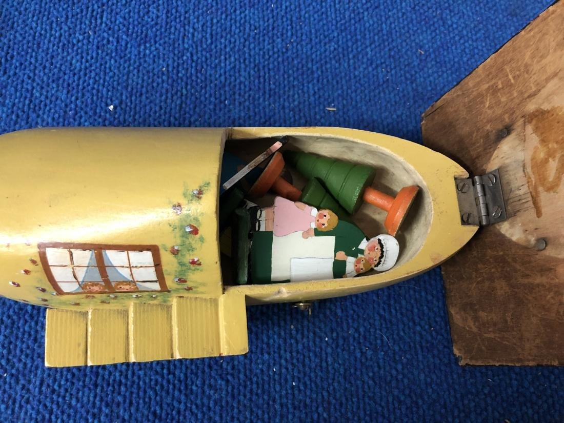 Antique Wooden Shoe Playset - 2