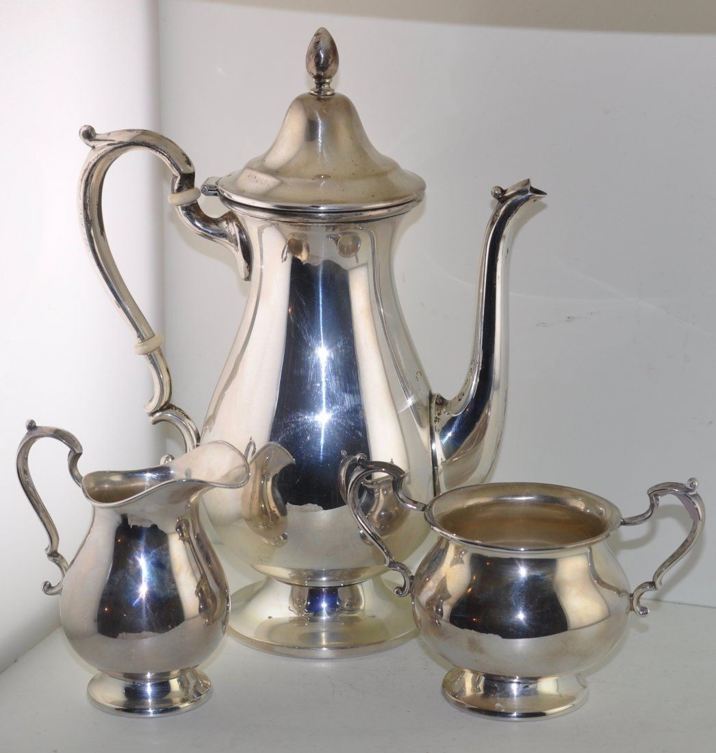 Cartier Sterling Silver Roxbury Coffee Set