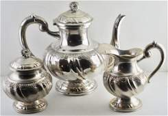 Continental 800 silver Tea Set