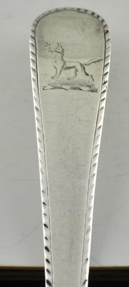 English Sterling Georgian Large Stuffing spoon Brightwo