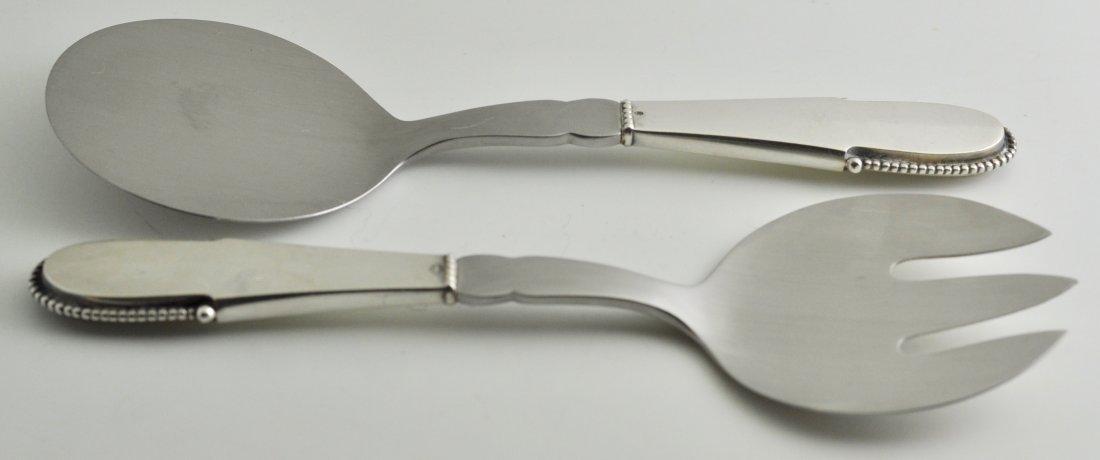 Modernist Danish Sterling Silver Fish Set