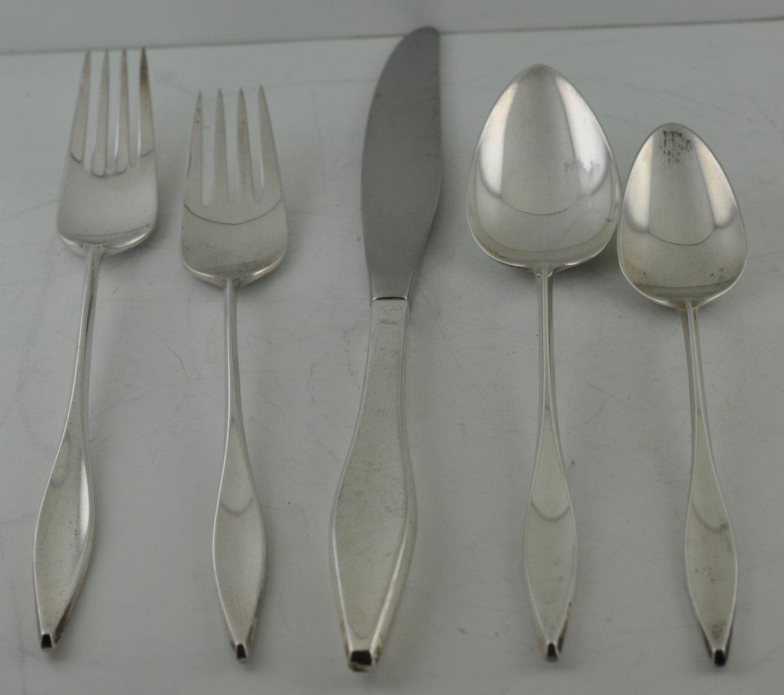 Modernist Sterling Silver John Prip Lark flatware set