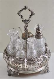 Antique English Sterling Silver Cruet set- Magnificent