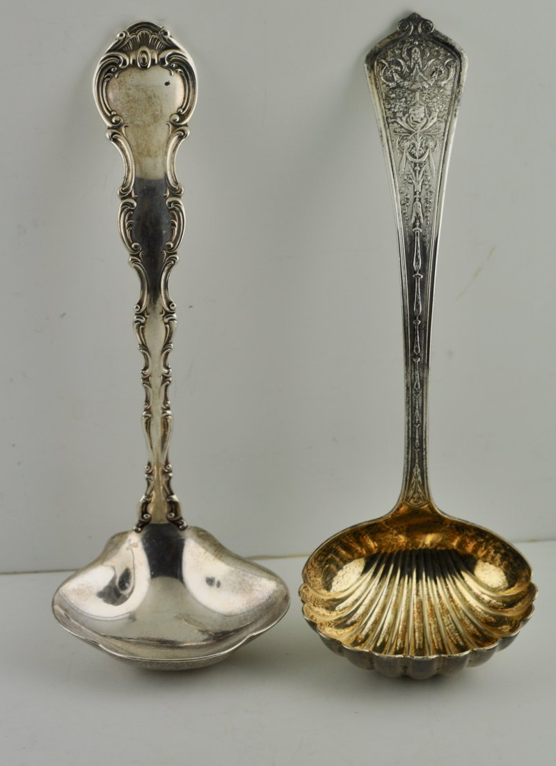 2 Antique Sterling Silver Ladles American