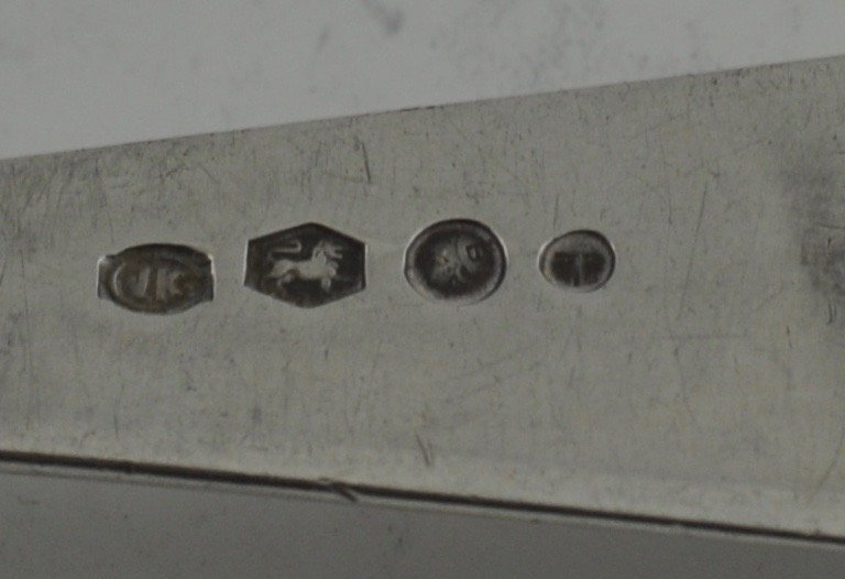 Dutch 833 Silver Large spoon Markers mark JK Circa 1930 - 2
