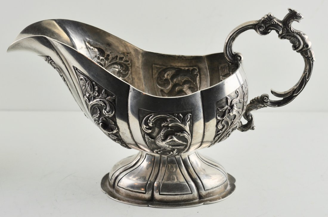 Dutch Ornate 830 Sliver early 19th century sauceboat