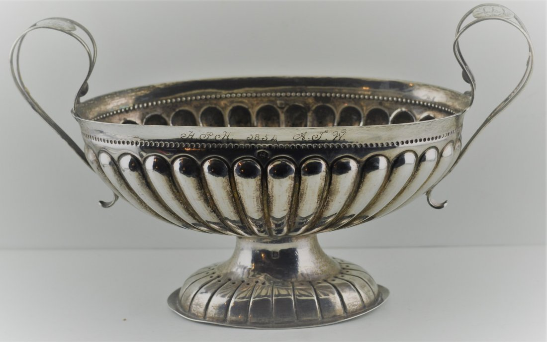 19th century European Silver 830 Sauce Boat