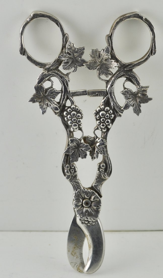 Dutch 835 Silver Grape Shears antique