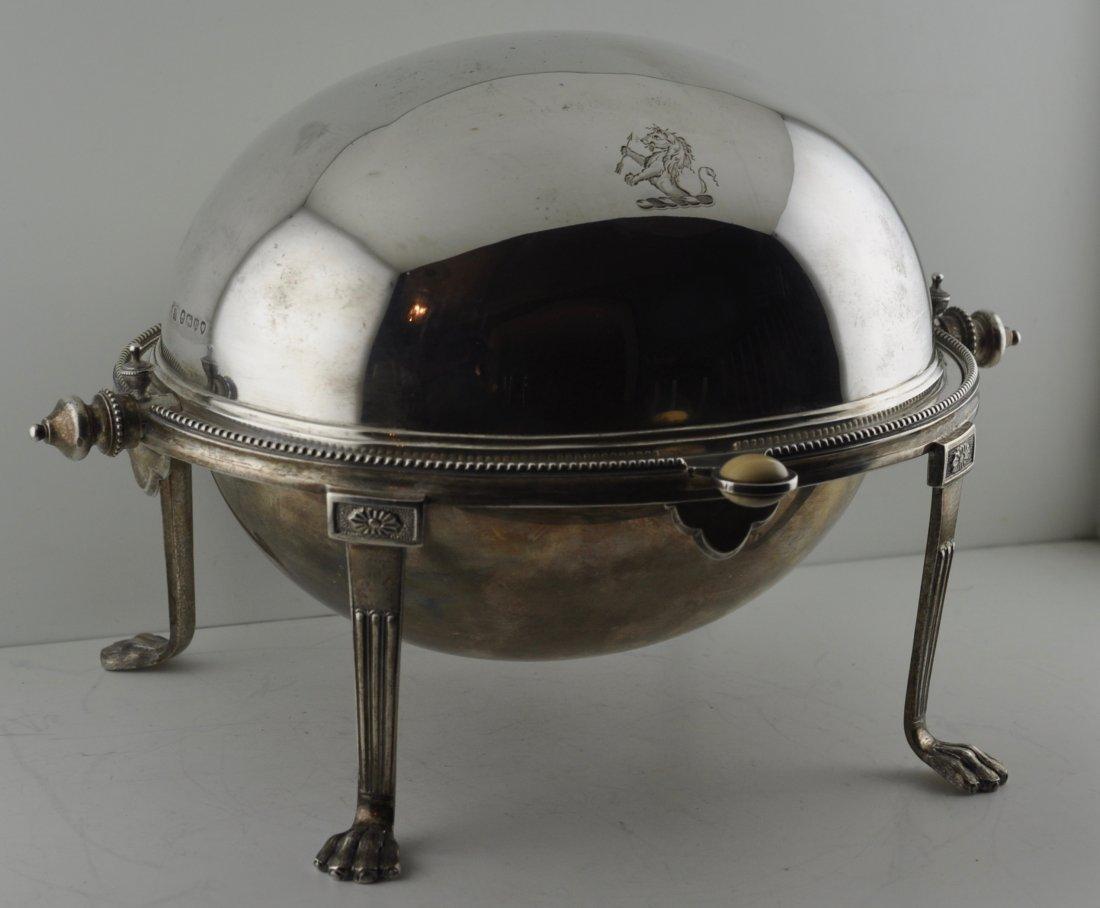 Rare Sterling Silver English Bun Warmer