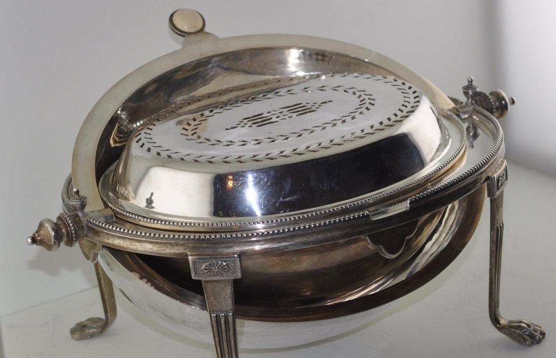 Rare Sterling Silver English Bun Warmer - 2