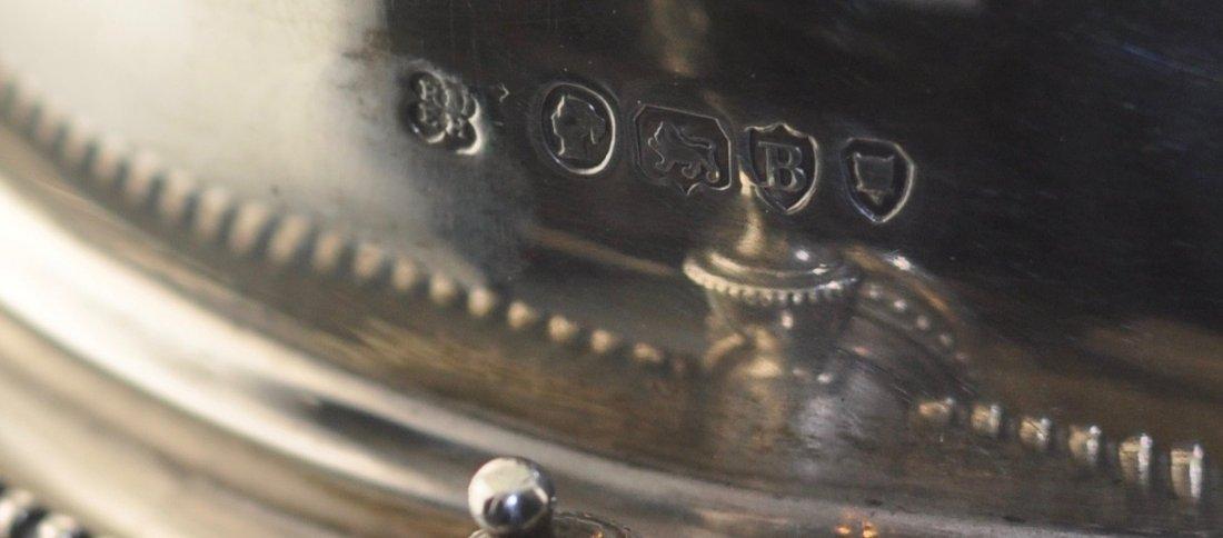 Rare Sterling Silver English Bun Warmer - 3