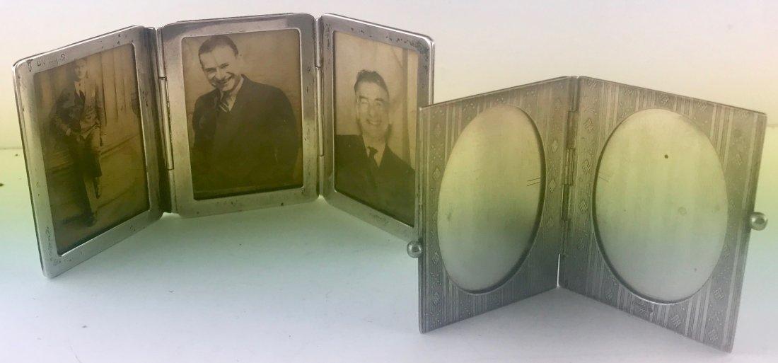 2 Antique Sterling  Silver Double & Triple Frames