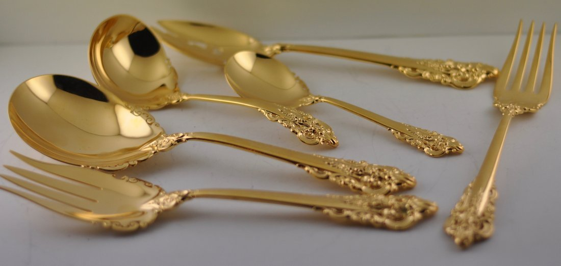 Wallace Grand Baroque Gilt Sterling Set service for 12 - 2