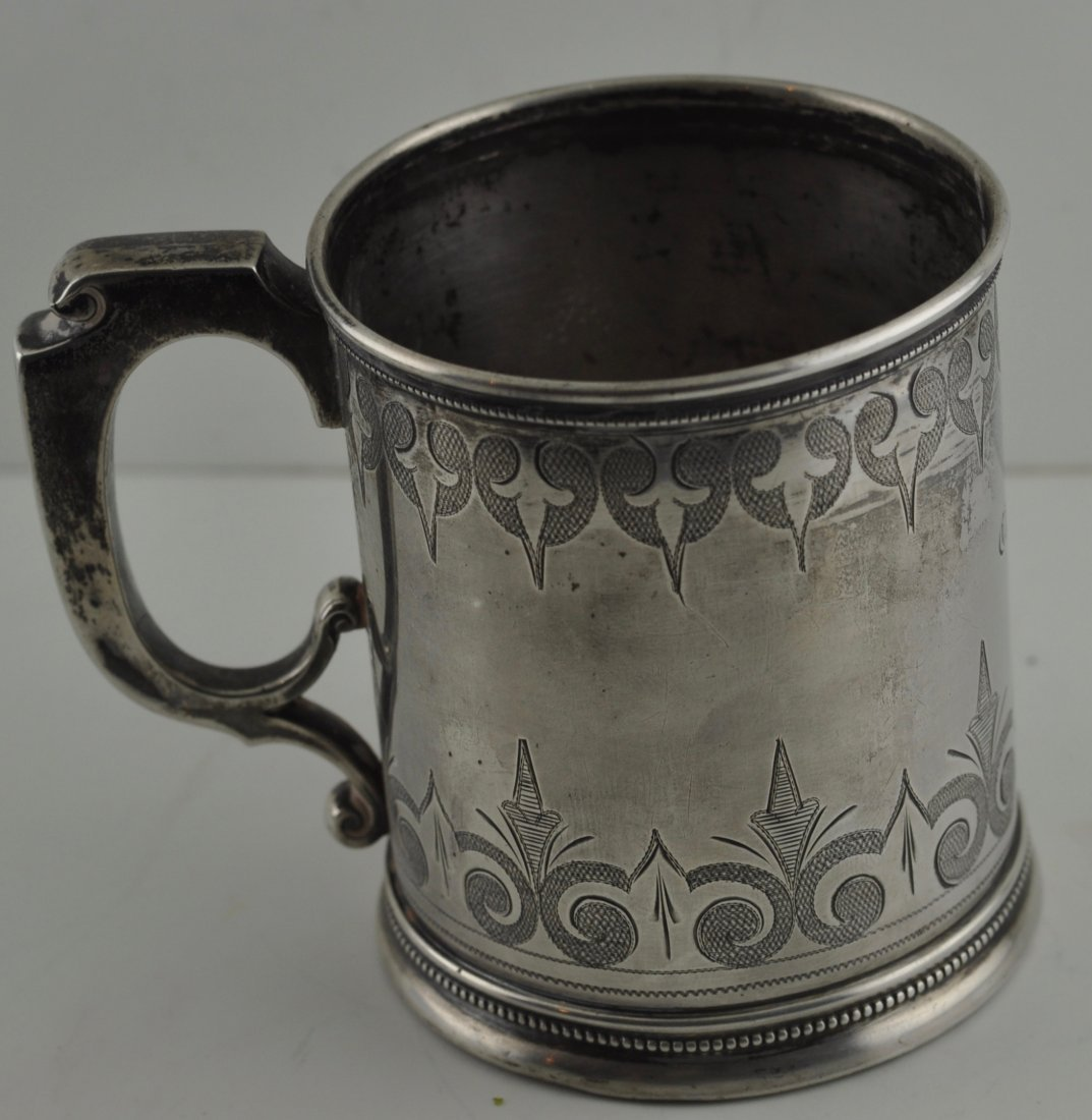 Antique English  Birmingham Sterling Silver Mug