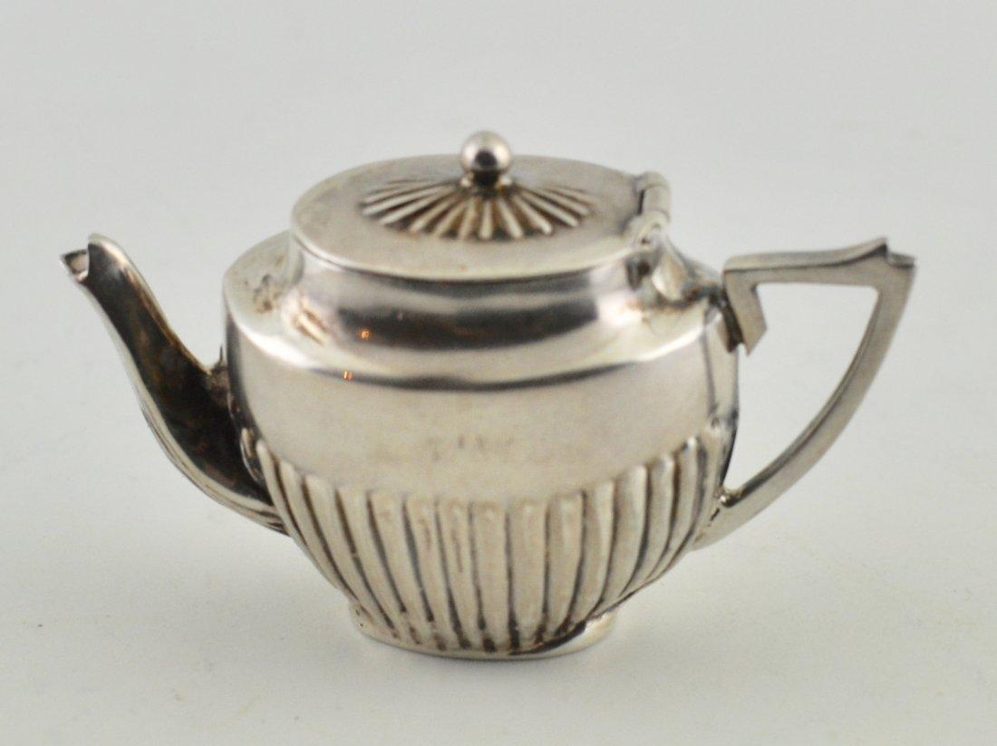 English Sterling miniature tea pot