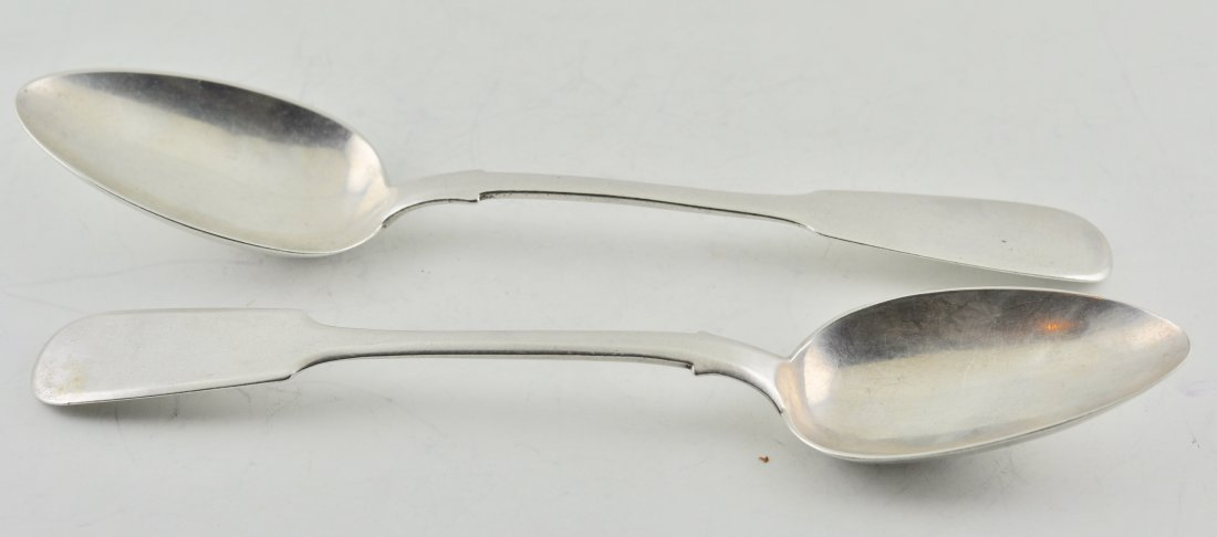 Russian Silver 84 1881 & 1862 Serving Spoons