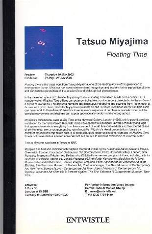 TATSUO MIYAJIMA Floating Time catalog