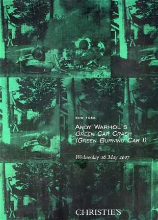 ANDY wARHOLS GREEN CAR CRASH GREEN BURNING CAR 1