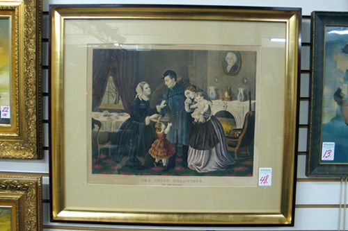 "0048: CURRIER AND IVES COLOR LITHOGRAPH titled  ""The Un"