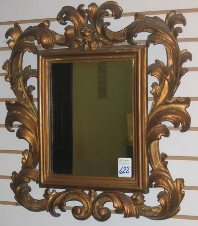0622: AN ITALIAN 19TH CENTURY HAND MADE WALL MIRROR