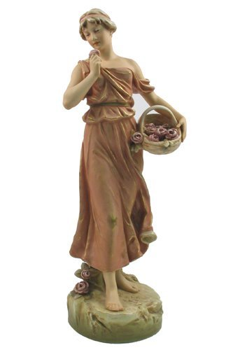 0673: BOHEMIAN ROYAL DUX POTTERY FIGURE of barefoot  yo