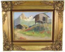 162: HARVEY B. GOODALE (Alaska, 1900-1980) Oil on canv