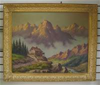 205 R LESTER American 20th century  Oil on canvas