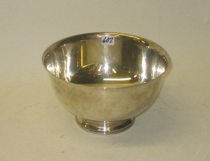 607: STERLING SILVER CENTER BOWL by Frank Whiting, a  c
