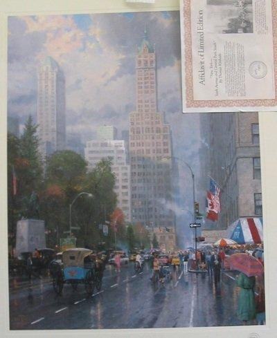 609: THOMAS KINKADE (American, born 1947)  A color lith