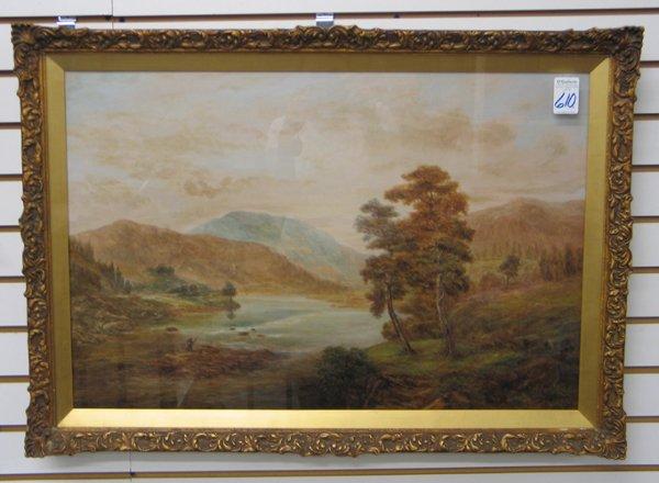 610: R.E. LUND (British, 19th/20th century).  Oil on pa
