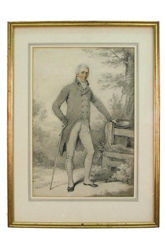 622: HENRY EDRIDGE (British, 1769-1831)  Watercolor on