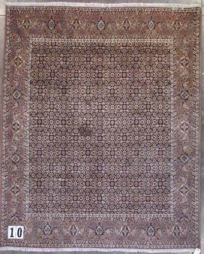"""1010: PERSIAN HERATI BIJAR CARPET  6'8"""" x 8'1""""  Contemp"""
