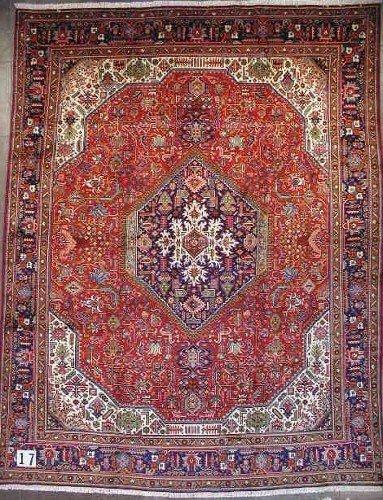 "1017: PERSIAN TABRIZ CARPET 9'9"" x 12'8""  Contemporary"