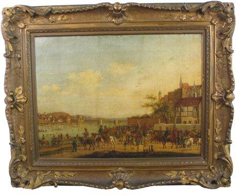 610: POLISH SCHOOL, 19th century oil on canvas  Landsca