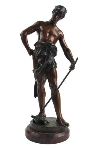 624: EUGENE MARIOTON (French, 1857-1933)  Bronze figure