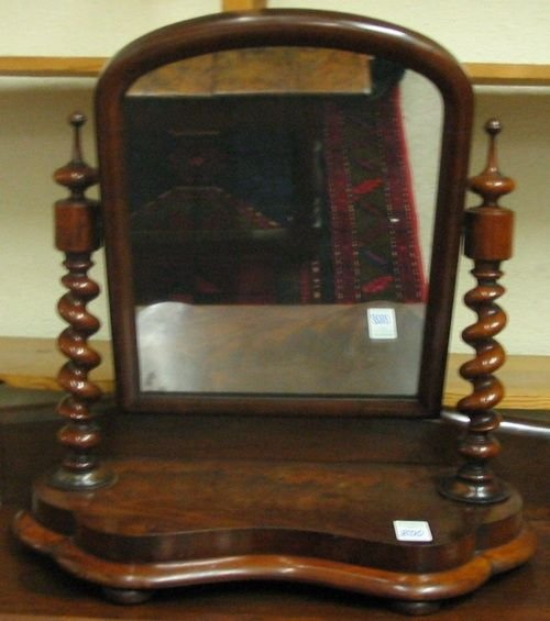 800: VICTORIAN MAHOGANY DRESSING TABLE MIRROR,  English