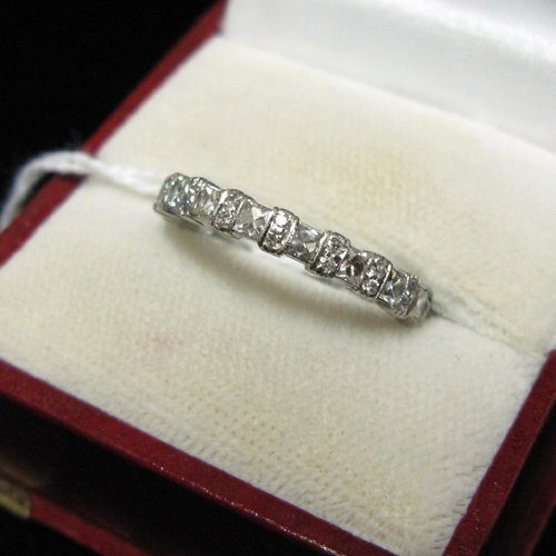 1016: DIAMOND AND PLATINUM ETERNITY RING WITH  APPRAISA