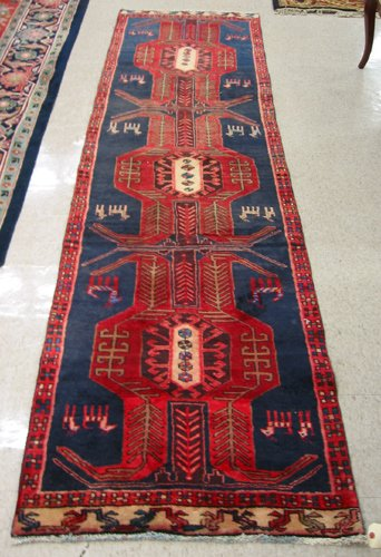 20: PERSIAN ARDEBIL RUNNER, geometric medallion and  st