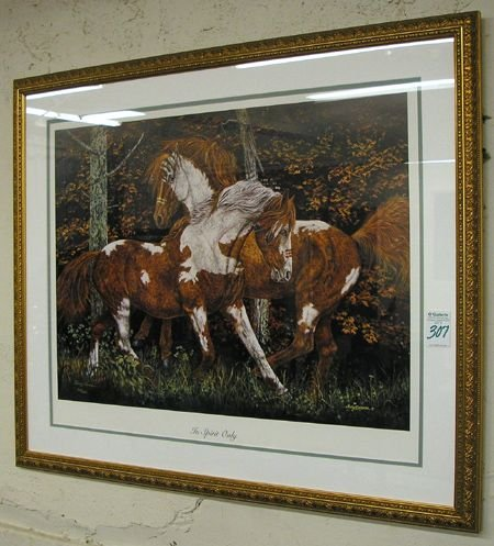 307: JUDY LARSON (American, 20th century)  Color lithog