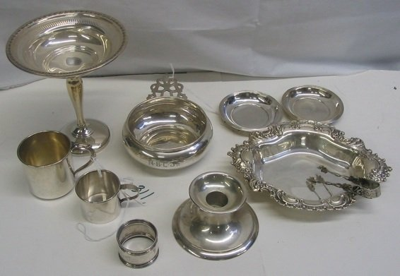 311: A COLLECTORS GROUP OF 8 PIECES OF STERLING  SILVER