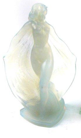 601: SABINO OPALESCENT ART GLASS FIGURE OF NUDE  FEMALE