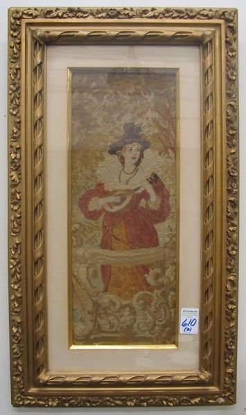 610: PAIR BELGIAN/FLEMISH NEEDLEPOINT PANELS, one  depi